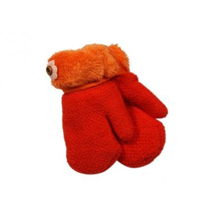 Варежки Цветок зимние оранжевые