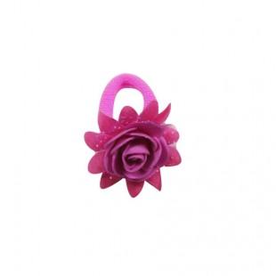 Резинка детская Роза ярко-розовая