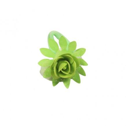 Резинка детская Роза салатовая