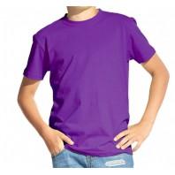 Футболка детская фиолетовая однотонная без рисунка Дарси