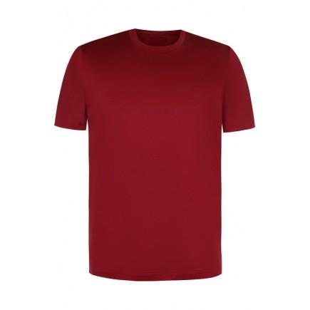 Мужская бордовая однотонная футболка без рисунка