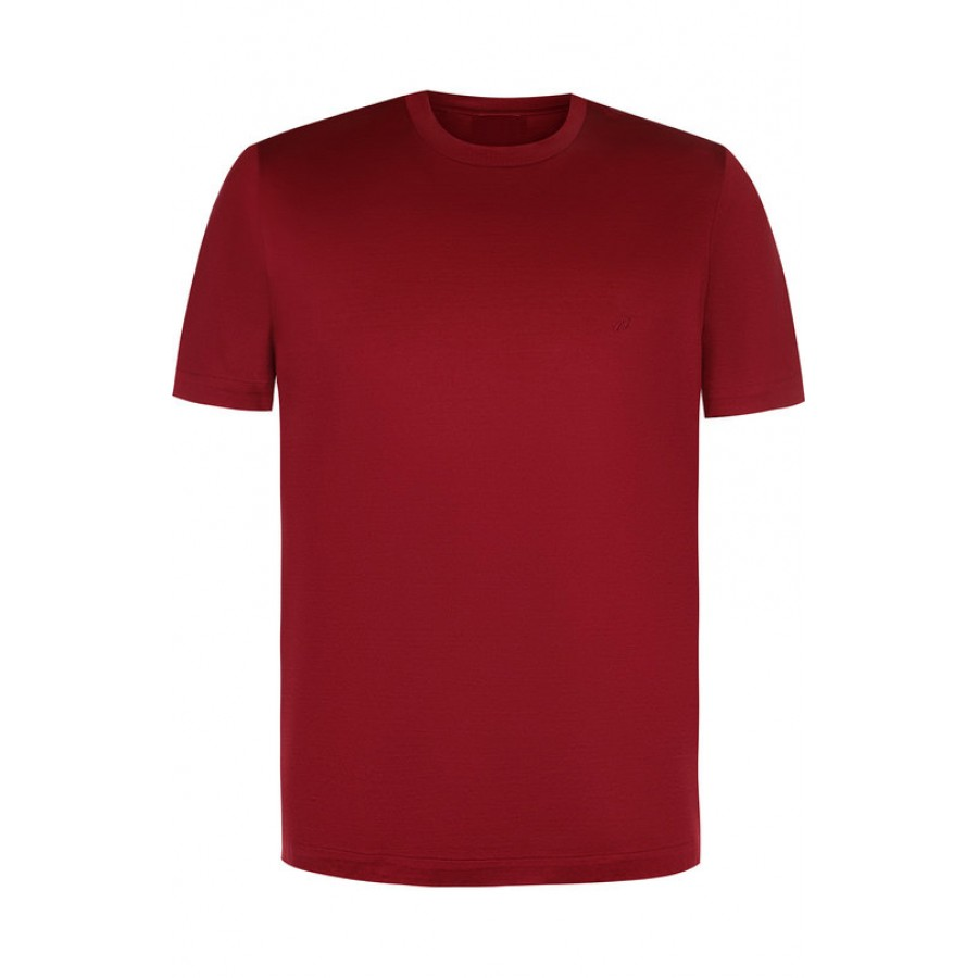 994cc2ea3e78f Мужская бордовая однотонная футболка без рисунка купить недорого в ...