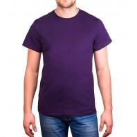 Мужская сиреневая однотонная футболка без рисунка