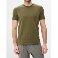 Мужская однотонная футболка хаки
