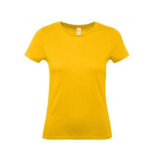 Женская желтая однотонная футболка без рисунка
