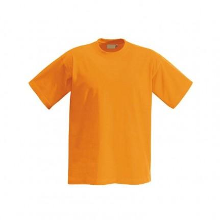 Футболка детская оранжевая однотонная без рисунка
