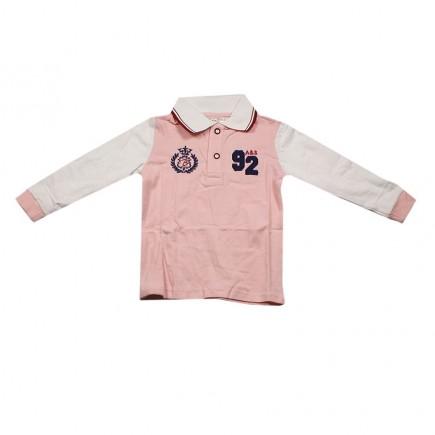 Футболка-поло детская розовая