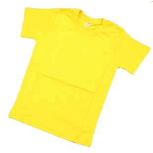 Футболка детская желтая однотонная без рисунка