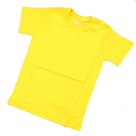 Футболка  детская желтая однотонная Дарси без рисунка