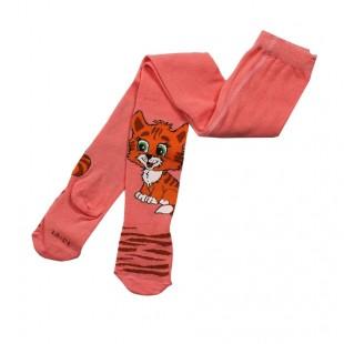 Колготки  детские Котенок ярко-розовые