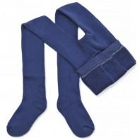 Колготки  детские махровые синие (джинс)