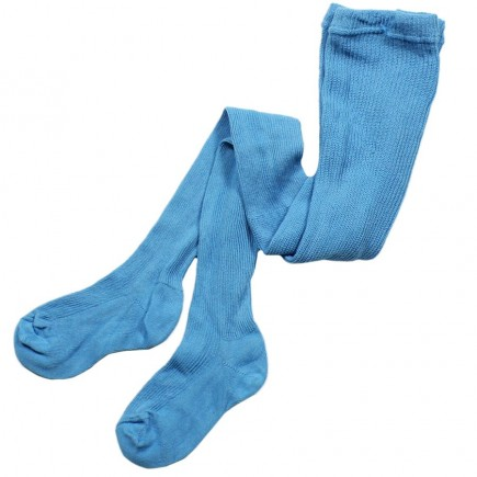 Колготки детские 100% хлопок  голубые