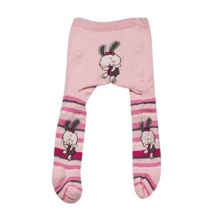 Колготки  детские под подгузник Зайка розовые