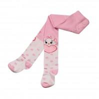 Колготки  детские Mew бело-розовые