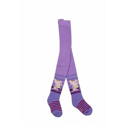 Колготки  для девочки махровые фиолетовые