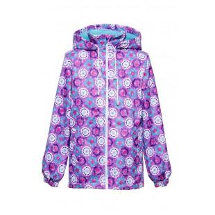 Ветровка для девочки фиолетово-голубая