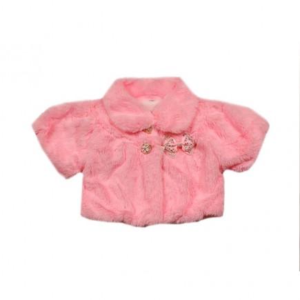 Шубка-накидка Снегурочка розовая