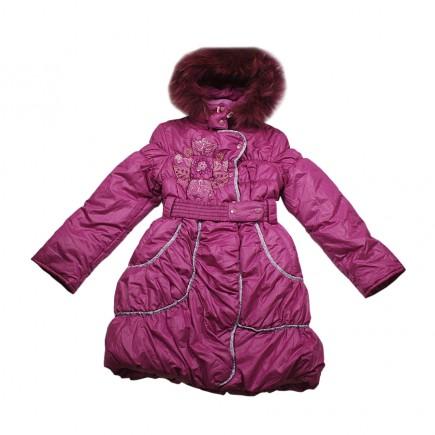 Пальто для девочки Зимние Цветы