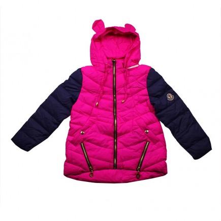 "Куртка для девочки весенняя ""Moncler""  розовая"