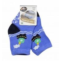 Носки  детскиекораблик  голубые с нескользящей подошвой