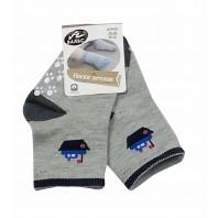 Носки  детские серые с нескользящей подошвой