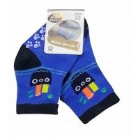 Носки  детские синие с нескользящей подошвой