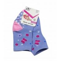 Носки  детские Бабочки с нескользящей подошвой