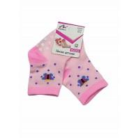 Носки  детские Бабочки розовые с нескользящей подошвой