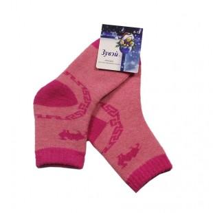 Носки детские теплые с верблюжьей шерстью розовые