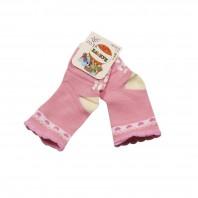 Носки детские Сердечки с противоскользящим покрытием розовые