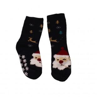 Носки  детские черные Дед Мороз