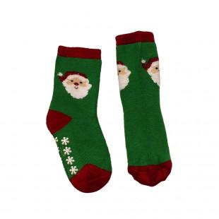 Носки  детские зеленые Дед Мороз
