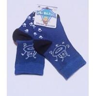 Носки детские синие Вальс  нескользящей подошвой