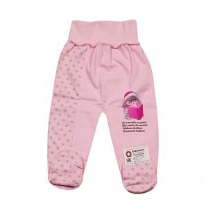 Ползунки детские Зайка розовые