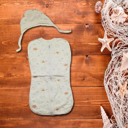Пеленка конверт-кокон Сладкий Сон на молнии молочная