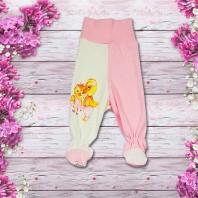 Ползунки детские Утята розовые