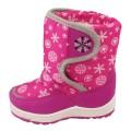Дутики детские Снежинка розовые