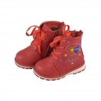 Ботинки зимние детские для девочки Adagio оранжевые на меху