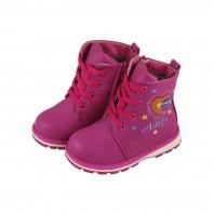 Ботинки зимние детские для девочки Adagio розовые на меху