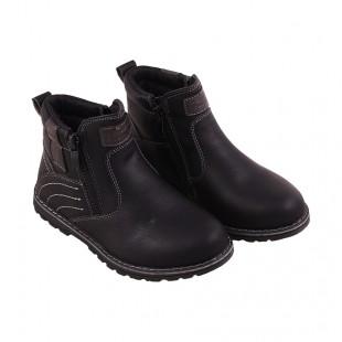 Ботинки осенние детские для мальчика черные