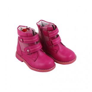 Ботинки осенне-весенние для девочки розовые Цветок
