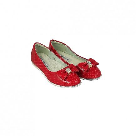 Балетки для девочки красные