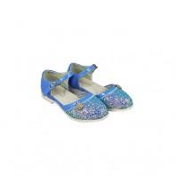 Туфли для девочки голубые