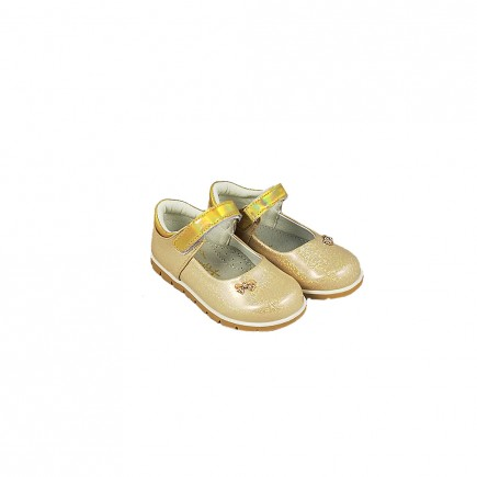 Туфли для девочки Бантик бежевые