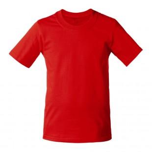 Футболка детская красная однотонная без рисунка Дарси