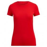 Футболка женская красная однотонная без рисунка