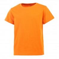 Футболка оранжевая детская однотонная без рисунка Дарси