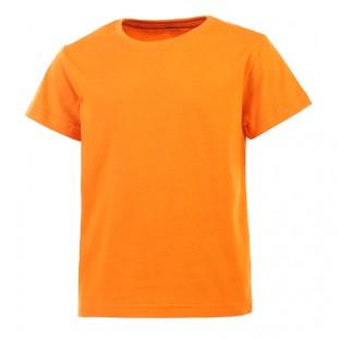 Футболка детская оранжевая однотонная без рисунка Дарси