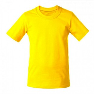 Футболка детская желтая однотонная без рисунка Дарси