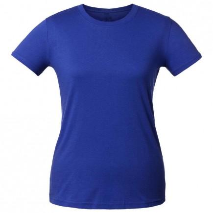 Футболка женская синяя однотонная без рисунка
